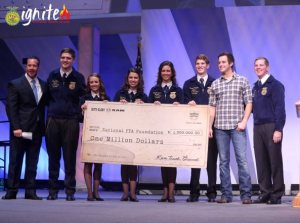 Through a growing partnership between the National FFA Organization, Ram Trucks, and country artist Easton Corbin, celebration of The Year of the Farmer has been in full-force at both the national and local FFA chapter levels. (Photo Credit: National FFA Organization)